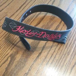 Harley Davidson Belt with Flaming Roses. Size L